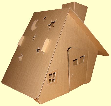 Картонные домики своими руками фото